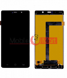 Lcd Display With Touch Screen Digitizer Panel Combo Folder Glass For Lyf Water 10 (Black)