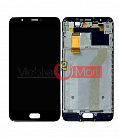 Lcd Display With Touch Screen Digitizer Panel Combo Folder Glass For InFocus Turbo 5 Plus (Black)