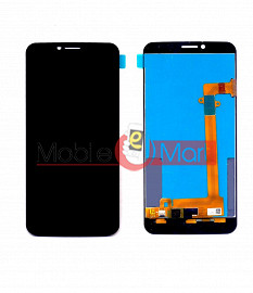 Lcd Display With Touch Screen Digitizer Panel Combo Folder Glass For Infocus M370i (Black)