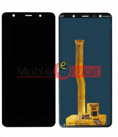 Lcd Display With Touch Screen Digitizer Panel Combo Folder Glass For Samsung Galaxy A7 (2018) (black)