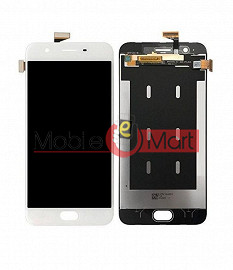 Lcd Display With Touch Screen Digitizer Panel Combo Folder Glass For OPPO F1S (White)