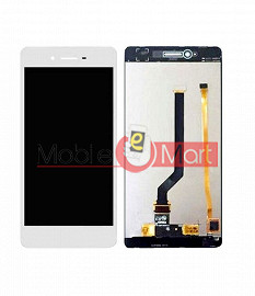 Lcd Display With Touch Screen Digitizer Panel Combo Folder Glass For Oppo F1 (White)