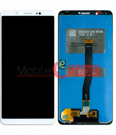 Lcd Display With Touch Screen Digitizer Panel Combo Folder Glass For Vivo V7 (White)