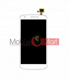 Lcd Display With Touch Screen Digitizer Panel Combo Folder Glass For Gionee Ctrl V5 (White)