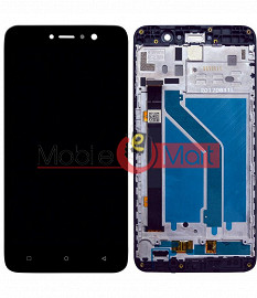 Lcd Display With Touch Screen Digitizer Panel Combo Folder Glass For Gionee A1 Lite (White)