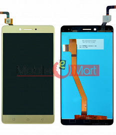 Lcd Display With Touch Screen Digitizer Panel Combo Folder Glass For Lenovo K6 Note (Gold)