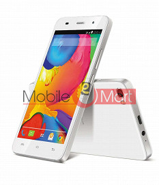 Lcd Display With Touch Screen Digitizer Panel Combo Folder Glass For LAVA Iris X8Q (White)
