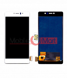Lcd Display With Touch Screen Digitizer Panel Combo Folder Glass For Lyf Water 8 (White)