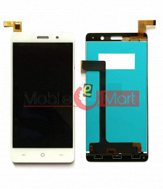 Lcd Display With Touch Screen Digitizer Panel Combo Folder Glass For Lyf Water 4 (White)