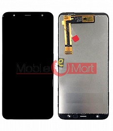 Lcd Display With Touch Screen Digitizer Panel Combo Folder Glass For Samsung Galaxy J6 Plus (Black)
