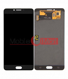 Lcd Display With Touch Screen Digitizer Panel Combo Folder Glass For Samsung Galaxy C9 Pro - Black (TFT)