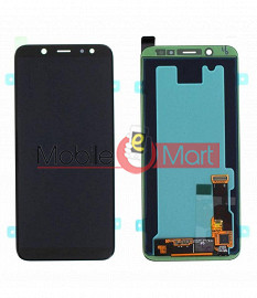 Lcd Display With Touch Screen Digitizer Panel Combo Folder Glass For Samsung Galaxy A6 (Black)