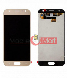 Lcd Display With Touch Screen Digitizer Panel Combo Folder Glass For Samsung Galaxy J3 2017 (White)