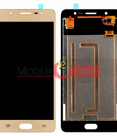 Lcd Display With Touch Screen Digitizer Panel Combo Folder Glass For Samsung Galaxy J7 Max (Gold)