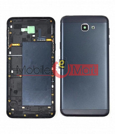 Full Body Housing Panel Faceplate For Samsung Galaxy J7 Prime Black