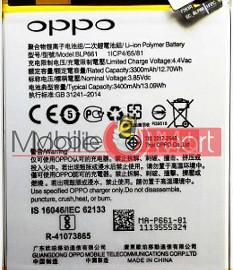 Mobile Battery For Oppo F7 black