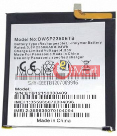 Mobile Battery For Panasonic Eluga Turbo black