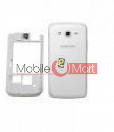 Back Panel Middle Housing For Samsung Galaxy Grand 2 White Colour G7102