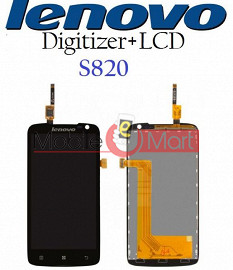 Lcd Display+Touch Screen Digitizer Panel For Lenovo S820