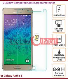 Samsung Galaxy Alfa A3 Tempered Glass Scratch Gaurd Screen Protector Toughened Film