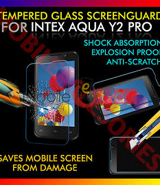 Intex Aqua Y2 Pro Tempered Glass Scratch Gaurd Screen Protector Toughened Protective Film