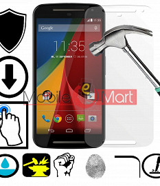 Motorola Moto E2 Tempered Glass Scratch Gaurd Screen Protector Toughened Protective Film