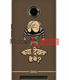 Fancy 3D Kya Dekhta Hai Mobile Cover For Micromax Yuphoria