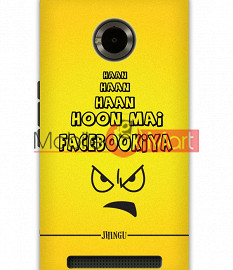 Fancy 3D Facebookia Mobile Cover For Micromax Yuphoria