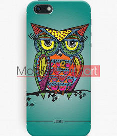 Fancy 3D Colorful Owl Mobile Cover For Apple IPhone 5C