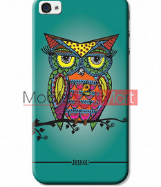 Fancy 3D Colorful Owl Mobile Cover For Apple IPhone 4 & IPhone 4s