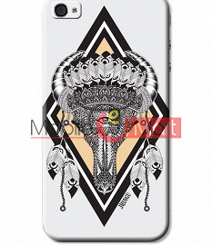 Fancy 3D Buffalo Skull Mobile Cover For Apple IPhone 4 & IPhone 4s