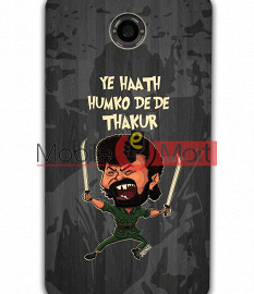 Fancy 3D Gabbar Mobile Cover For Google Nexus 6