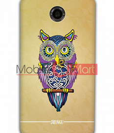 Fancy 3D Designer Owl Mobile Cover For Google Nexus 6
