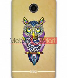 Fancy 3D Designer Owl Mobile Cover For Google Nexus 6