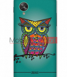 Fancy 3D Colorful Owl Mobile Cover For Google Nexus 5