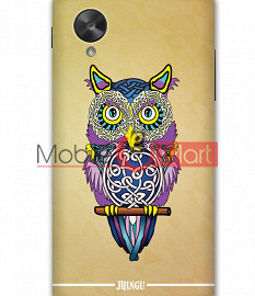 Fancy 3D Designer Owl Mobile Cover For Google Nexus 5