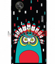 Fancy 3D African Owl Mobile Cover For Google Nexus 5