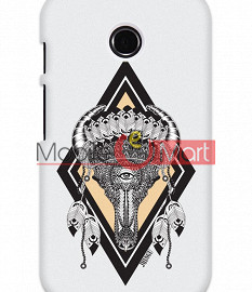 Fancy 3D Buffalo Skull Mobile Cover For Motorola Moto E