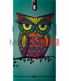 Fancy 3D Colorful Owl Mobile Cover For One Plus One