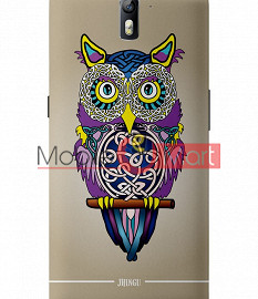 Fancy 3D Designer Owl Mobile Cover For One Plus One