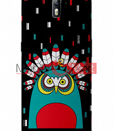 Fancy 3D African Owl Mobile Cover For One Plus One