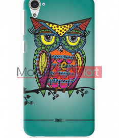Fancy 3D Colorful Owl Mobile Cover For HTC Desire 826