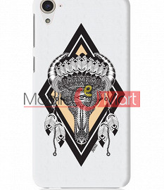 Fancy 3D Buffalo Skull Mobile Cover For HTC Desire 826