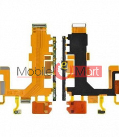 Power On Off Volume Button Key Flex Cable For Sony T2