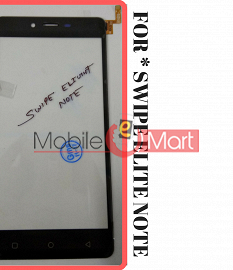 Touch Screen Digitizer For Swipe Elite Note