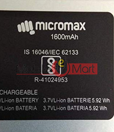 Mobile Battery For Micromax Q4001