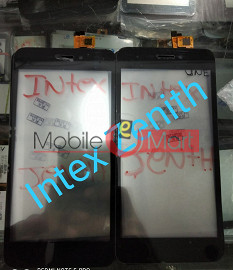 Touch Screen Digitizer For Intex Aqua Zenith