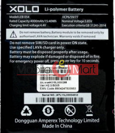 Mobile Battery For Xolo Era 4K