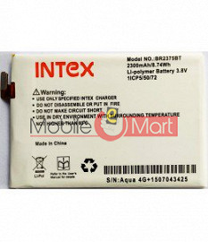 Mobile Battery For Intex Aqua 4G Star