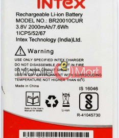 Mobile Battery For Intex Aqua A4+